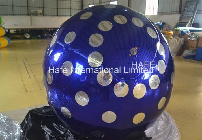 4 M Inflatable Lighting Decoration , 13ft Flying Helium Inflatable Mirror Ball