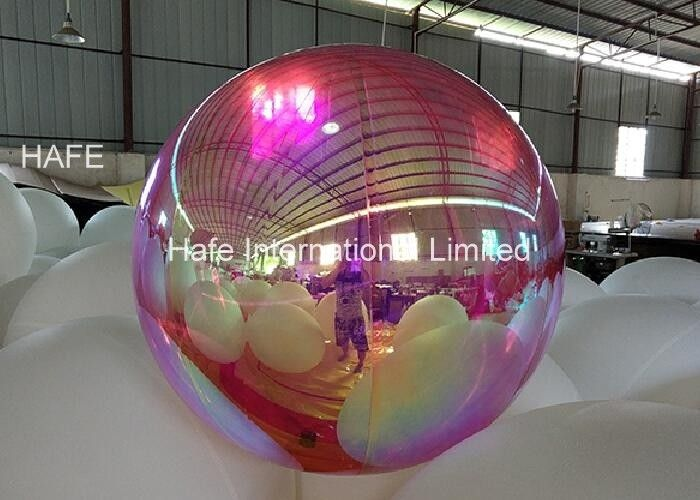1.2M Diameter Laser Dazzle Mirrored Balloon Lights For Theme Decoration